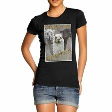 Women Cotton Animal Theme Funny  Print Lamb Armageddon T-Shirt