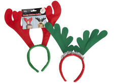 12 X REINDEER ANTLERS ON HEADBAND CHRISTMAS FANCY DRESS OFFICE XMAS PARTY STAG