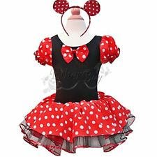Mädchen Minnie/Mickey Mouse Maus Kostüm Ballettkleid Party Tutu Kleid Gr. 86-140