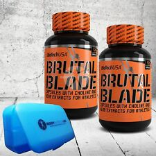 BioTech USA Brutal Blade 120 caps THERMOGENIC FORMULA Fat Burner REDUCE BODY FAT