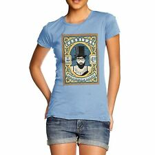 Twisted Envy Women's Carnival The Bearded Lady 100% Organic Cotton T-Shirt