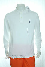 BNWT 100% AUTHENTIC RALPH LAUREN MENS WHITE LONG SLEEVE POLO T SHIRT TEE  S/M/L