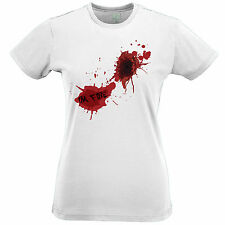 I'm Fine Zombie Gunshot Wound Blood Splatter Design Cool Geeky T Shirt