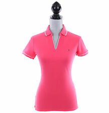 Tommy Hilfiger Women Short Sleeve Buttonless Low V-Neck Polo Shirt - $0 Ship
