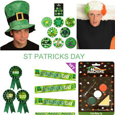 St Patricks Day Accessories Irish Hat Wig Banners Badge Face Paint Fancy Dress