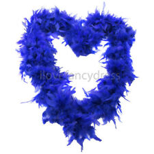 ROYAL BLUE 65G FEATHER BOA FANCY DRESS COSTUME ACCESSORY HEN PARTY DECORATION