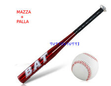 "Mazza da Baseball in Lega di Alluminio""25""pollice + Palla softball Top Quality"