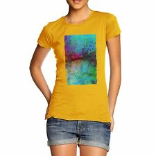 Twisted Envy Women's Abstract Painting 100% Organic Cotton T-Shirt