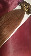 "22""NAIL TIP/U TIP 1G #10 CARAMEL AAAgrade HUMAN HAIR EXTENSIONS ,FAST DELIVERY"