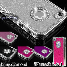 iPHONE 5S 5 IPHONE 4S 4 CASE - LUXURY CRYSTAL DIAMOND GLITTER BLING  BACK COVER
