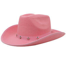 PINK COWBOY HAT WILD WEST COWGIRL FANCY DRESS COSTUME ACCESSORY HEN NIGHT PARTY