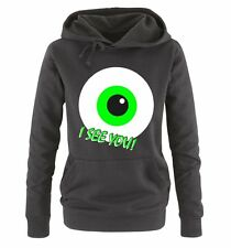 Comedy Shirts - I SEE YOU! - Damen Hoodie - Gr. S-XL Versch. Farben