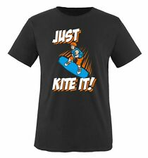 Comedy Shirts - JUST KITE IT - DELUXE - Kinder T-Shirt - Gr. 86/92-152/164 Versc
