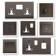 Simplicity Screwless Charcoal Stylish Light Switches Plug Sockets Cooker Fuse