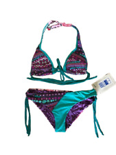Maaji Designer Bikini - Reversible purple/green/pink design - size Medium - NEW