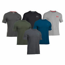 Under Armour Mens Charged Cotton Left Logo T-Shirt