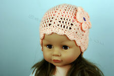 Beautiful Handmade Crochet Hat for Girl Aged 4-5 years variety colours