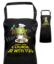 Star Wars Inspired Printed Barbecue Apron Fan of Yoda, May the Force Be With You