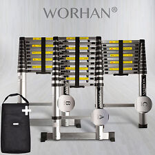 WORHAN® 3.2m Telescopic Single Ladder Multi Purpose Extendable Aluminium Ladders