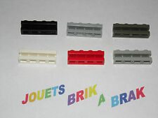 Lot lego brique brick de 1x4 modifié rainure Groove choose color ref 2653