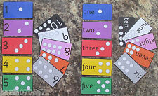 Numbers 1 - 10 with colours flash cards ~ 10cm x 5.5cm ~ Reception first numbers