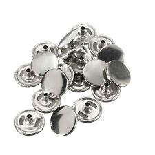 15mm SILVER HEAVY DUTY PRESS STUDS SNAP FASTENERS POPPERS (CAPS ONLY)
