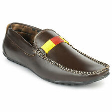 FootnStyle Dark Brown & Yellow Color Loafer For Mens (FS3009)