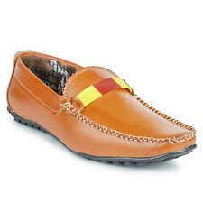 FootnStyle Brown & Yellow Color Loafer For Mens (FS3010)