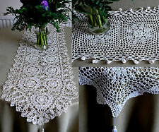 Beautiful CROCHETED TABLE RUNNER DOILY Table Decoration crochet vintage shabby