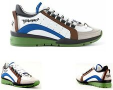 DSQUARED2 SNEAKER VITELLO SPORT M539 MARRONE PELLE DSQUARED