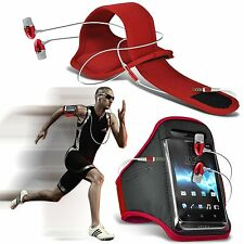 Running Fitness Sports Armband Case & Handsfree For Sharp SH530U