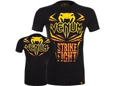 VENUM MMA T-Shirt, Strike Fight, schwarz, MMA, Muay Thai, Compression Shirt