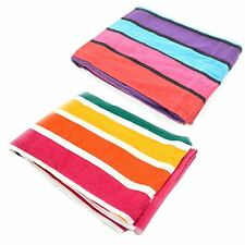Beach Bath Gym Sport Towel Camping Swimming Holiday Travel Velour Striped Large