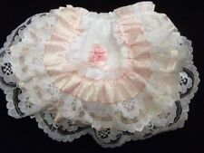 DREAM BABY ROMANY PINK CRYSTAL FRILLY KNICKERS  ALL SIZES AVAILABLE  reborn doll
