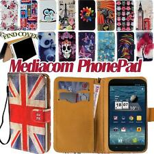 Flip Card Wallet Stand Leather Cover Case For Various Mediacom PhonePad Phones