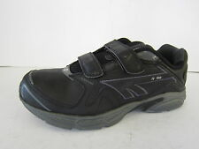 BOYS HI-TECH BLACK LEATHER TRAINERS WITH 2 RIPTAPE STRAPS STYLE: R156