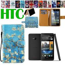 Folio Flip Stand Card Wallet Leather Magnetic Cover Case For Various HTC Phones