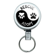 Retractable Reel Badge Key Holder with Belt Clip Causes Autism Cancer Adopt