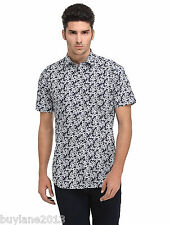 Edjoe Mens Printed Slim fit Casual/Party Wear Shirt, BLEDMS0062