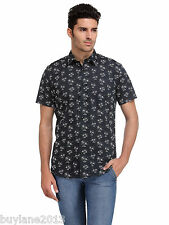 Edjoe Mens Printed Slim fit Casual/Party Wear Shirt, BLEDMS0068