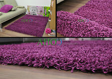 Purple  Small X Large Modern Plain 5cm Shaggy Rugs Thick Soft Pile Area Rug Mats