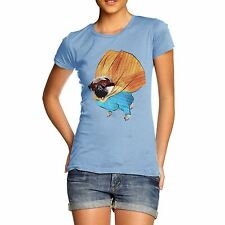 Twisted Envy Women's Super Hero Pug 100% Organic Cotton T-Shirt