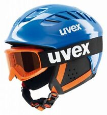 Uvex Junior Set Skihelm + Skibrille blau