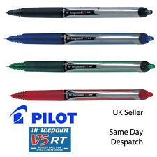 Pilot V5 RT Hi-Tecpoint Retractable Liquid Ink Rollerball Pen 0.5mm black blue