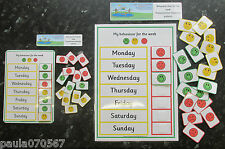 Promote good behaviour pecs~Weekly behaviour charts, A4 or A5 with 21 pec cards