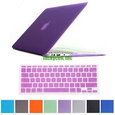 """Rubberized Cover Case Hard Shell + Keyboard Cover For 2015 Apple Macbook 12"""""""