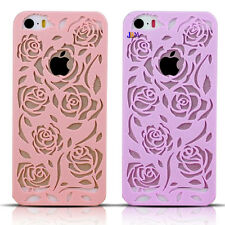ULTRA SLIM HOLLOW ROSES LOGO CUTOUT SNAP ON CASE COVER FOR IPHONE 5 5S
