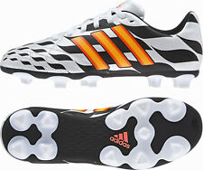 New Boys Adidas 11questra Firm Ground World Cup Black White Football Boots