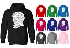 Womens Sherlock Holmes Improbable Icon Slogan Pullover Hoodie NEW UK 12-20