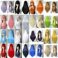 70 cm/28 inch Womens Ladies Long Straight Cosplay Wig Full Wigs Multi-Colors A37